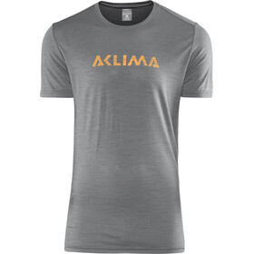 Aclima M's LightWool LOGO T-Shirt iron gate